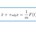 【振動】周期的な力F(t)の強制振動(摩擦無し)の運動方程式と一般解