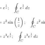 【例題で学ぶ③】ローラン展開/複素積分の例題(「sin(1/z)」「e^(1/z)」など真性特異点を持つ関数型)