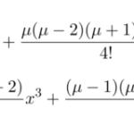 【微分方程式】ルジャンドルの微分方程式/級数解による解法