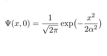【フーリエ変換】ガウス関数で表された波動関数(ガウス関数のフーリエ変換)