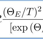 アインシュタインの比熱の式を導く