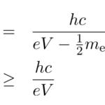 連続X線の発生原理・短波長端の計算