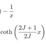 ランジュバン関数とブリルアン関数の展開
