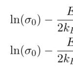 半導体の電気伝導度σの温度依存性(計算)