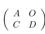【行列式】det(A O C D)=det(A B O D)=det(A)det(B)の証明