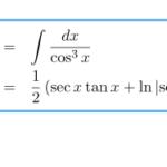 【積分】∫sec^3(x) dx(∫1/cos^3(x) dx)の積分
