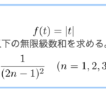 f(t)=|t|のフーリエ級数展開/その結果を利用した無限級数和