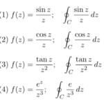 【例題で学ぶ②】ローラン展開/複素積分の例題「sinz/z」「cosz/z」「tanz/z^2」など三角関数型)
