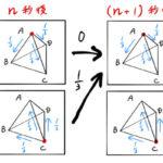 【確率漸化式】正四面体の点の移動を図解(高校数学)