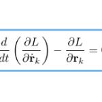 【解析力学】運動方程式からラグランジュ方程式を導出