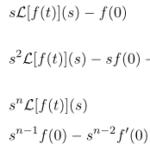 【ラプラス変換】1次、2次、n次導関数のラプラス変換