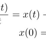 【ラプラス変換】x'=x-t の初期値問題のラプラス変換による解法