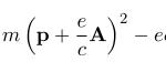 ローレンツ力 → 1電子原子のハミルトニアン