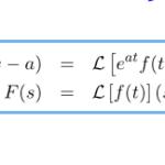 【例題で学ぶ】ラプラス逆変換(s移動)