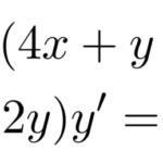 【微分方程式】y'=f(ax+by+c)型/「変数分離型」に帰着